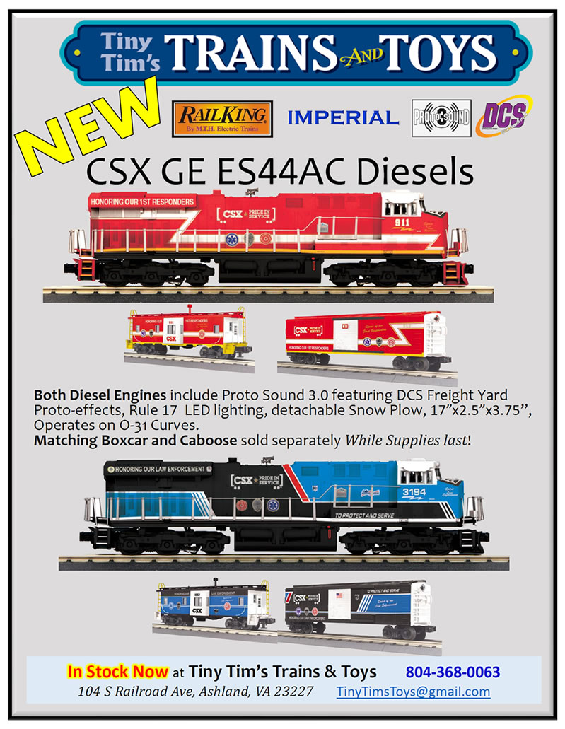 First Responder & Law Enforcement Engines, Cabooses, Boxcars