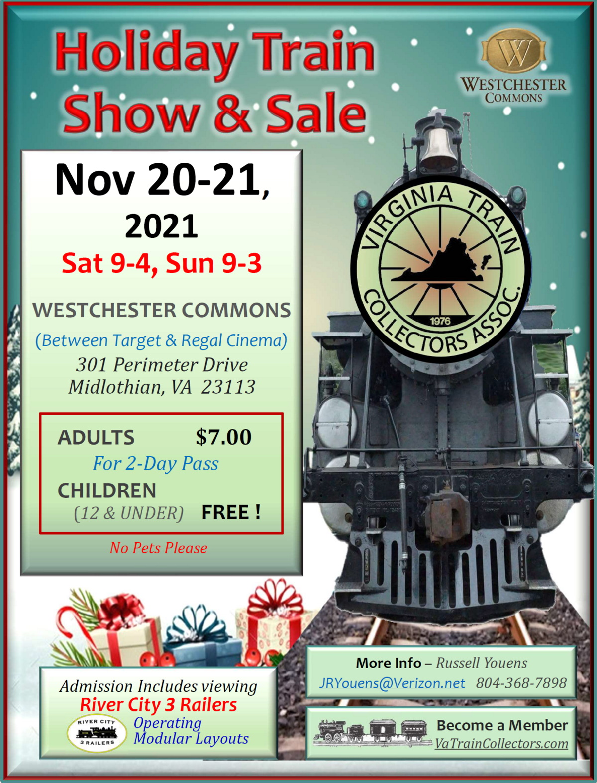 2021 Holiday Train Show, Westchester Commons